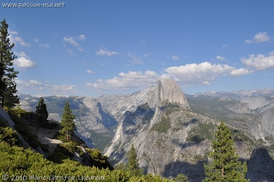 Yosemite, the Half Dome seen from Glacier Point