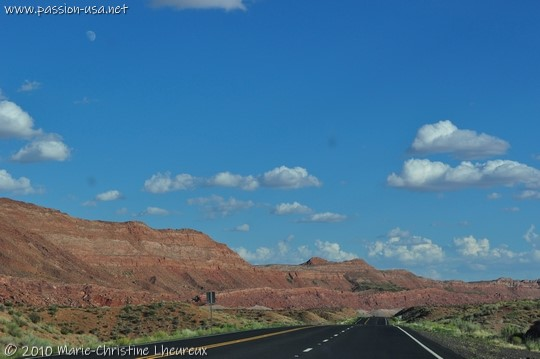 US-89 route across the Painted Desert