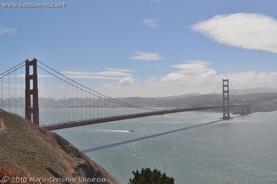 San Francisco, the Golden Gate Bridge seen from the Upper Promontory