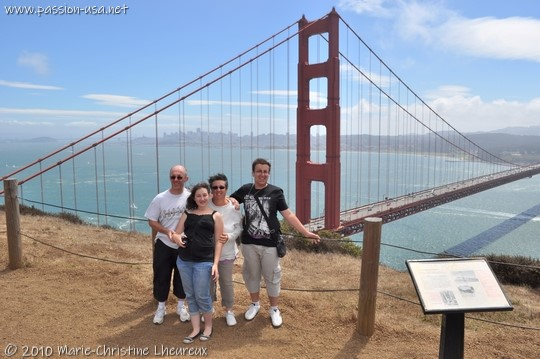 San Francisco, Golden Gate Bridge, the whole family