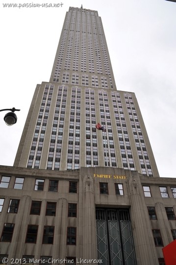 Empire State Building, seen from 5th Avenue