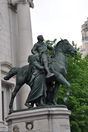 Theodore Roosevelt equestrian statue in front of the American Historical Society Museum, New York