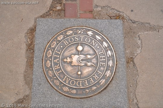 Plaque du Boston Freedom Trail
