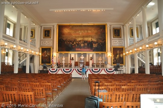 Faneuil Hall main meeting room, Boston
