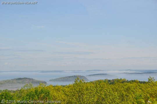 Acadia National Park, Frenchman Bay under the morning fog