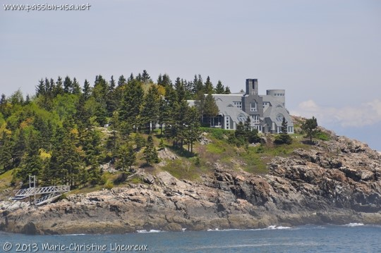 House enclosed within Acadia National Park