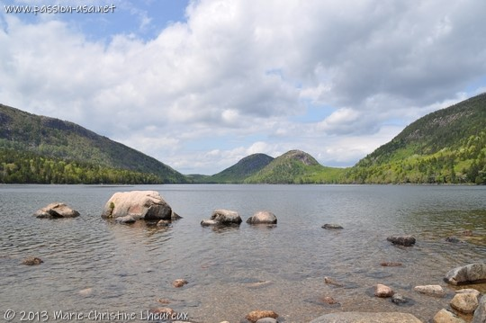 Acadia National Park, Jordan Pond, the Bubbles in the background