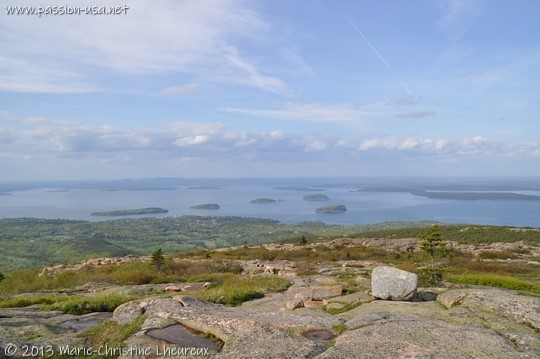 Acadia National Park, view from Cadillac Mountain, Frenchman Bay and Bar Harbor