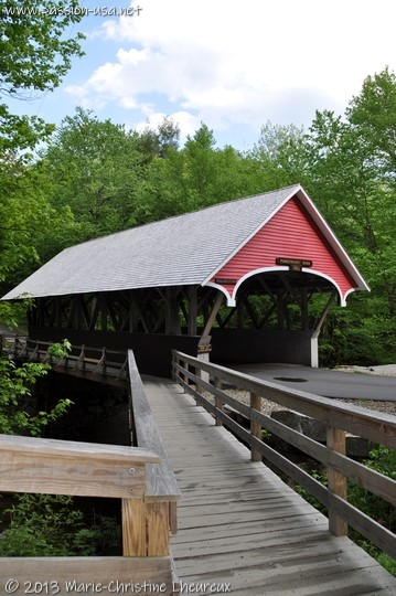 Covered bridge on the Pemigewasset River, Franconia Notch State Park