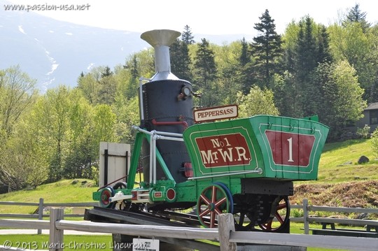 The Peppersass, a vintage steam locomotive, Mount Washington Cog Railway