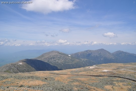 The Presidential Range, seen from the summit of Mount Washington