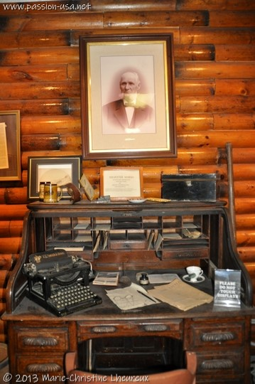 Cog railway museum, portrait of Sylvester Marsh, the founder