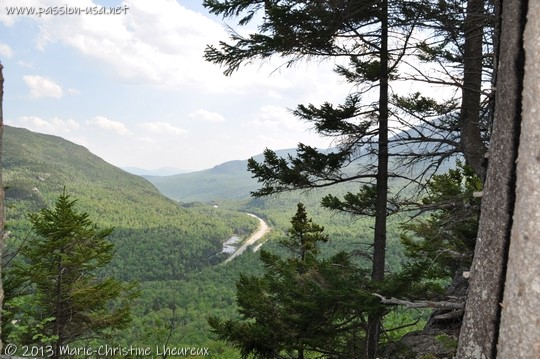Pinkham Notch, Brad's Bluff, view of the valley