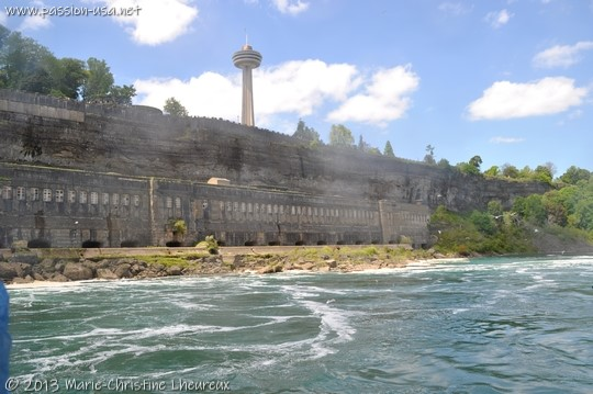 Niagara Falls, Canadian side, Skylon Tower, old disused power plant