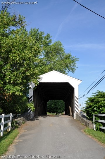 Willow Hill covered bridge, close to the Amish farm