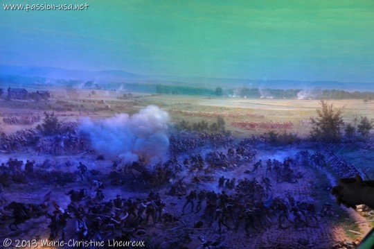 Reconstitution of the Battle of Gettysburg at the Cyclorama Theater