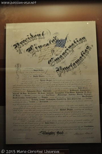 Gettysburg Museum, President Lincoln's Emancipation Proclamation