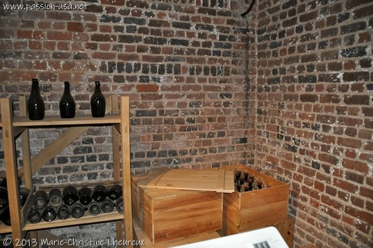Monticello, the wine cellar
