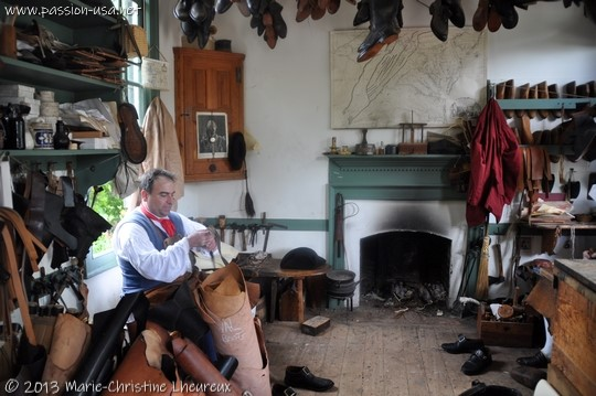 Colonial Williamsburg, the shoemaker at work