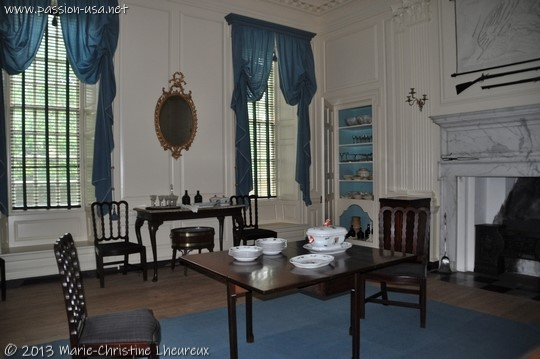 Colonial Williamsburg, Governor's Palace, the dining room