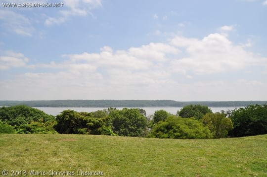 Mount Vernon, view of the Potomac from the porch of the mansion