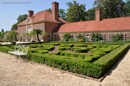 Mount Vernon, the upper garden and the greenhouse