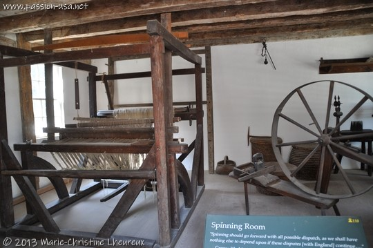 Mount Vernon, spinning room