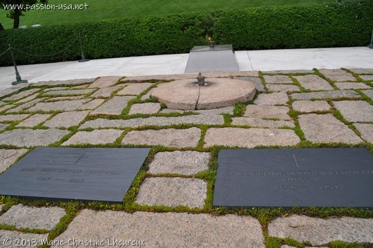 Arlington National Cemetery, graves of John and Jacqueline Kennedy