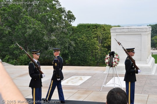 Arlington National Cemetery, Changing of the Guard at the Monument of the Unknowns