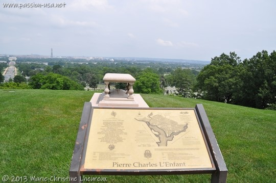 Arlington National Cemetery, Grave of Pierre-Charles L'Enfant, the man who designed the map of Washington