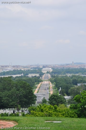 Washington and the Lincoln Memorial, from Arlington Hill