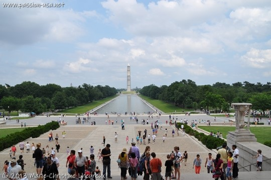 Washington, The Mall, Reflecting Pool and Washington Monument, from Lincoln Memorial