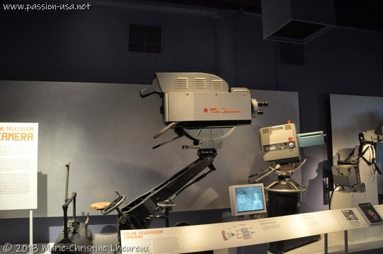 Museum of the Moving Image, color TV cameras of the 1950s