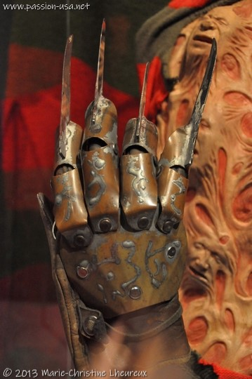 "Museum of the Moving Image, Freddy's metal claws in ""A Nightmare on Elm Street"""