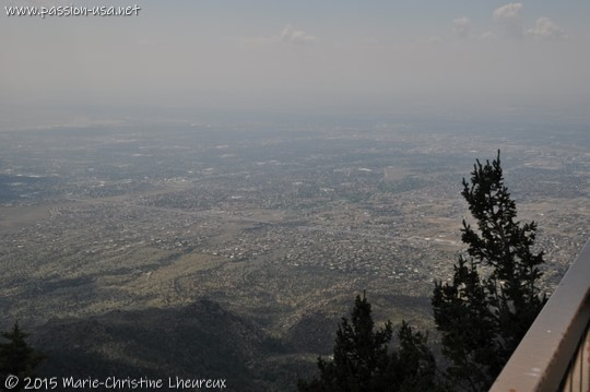 The valley, seen from Sandia Peak