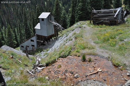 Abandoned mine above Animas Forks, CO