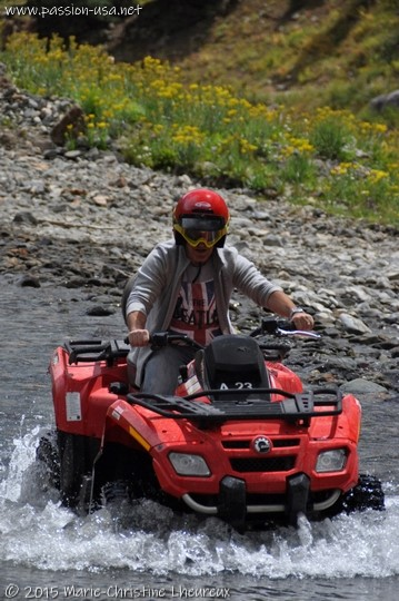Crossing Animas River with the ATV