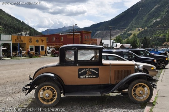 Ford model A in downtown Silverton, CO