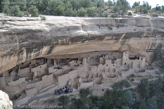 Cliff Palace seen from mesa top,Mesa Verde National Park