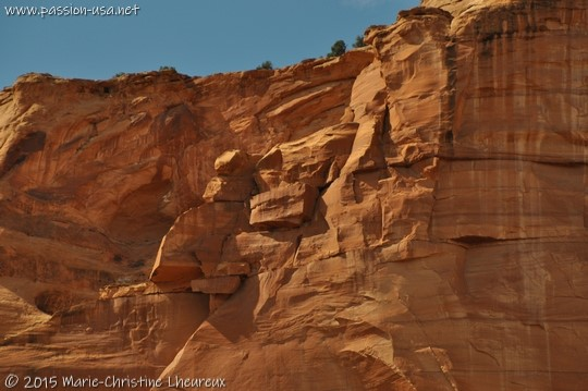 Westwater Canyon, close-up on the red cliffs
