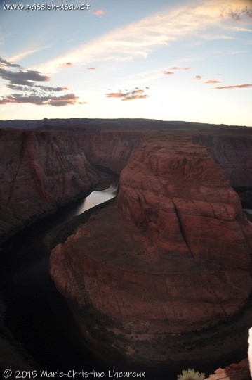 Sunset at Horseshoe Bend