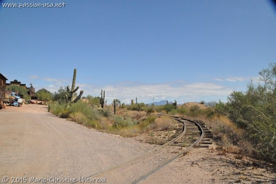 Ghost town entrance, Goldfield, AZ