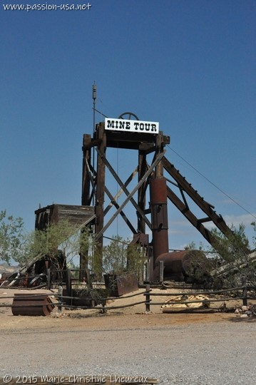 Ancien puits de mine de Goldfield, AZ