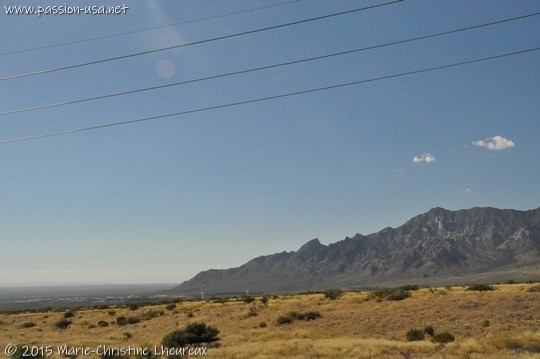 Organ Mountains, east of Las Cruces, NM