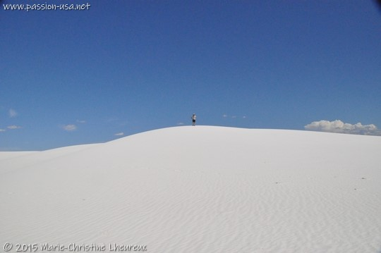 Me at the top of a gypsum dune, White Sands National Monument