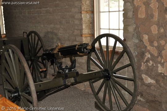 Carriage-mounted machine gun, Fort Davis National Historic Site