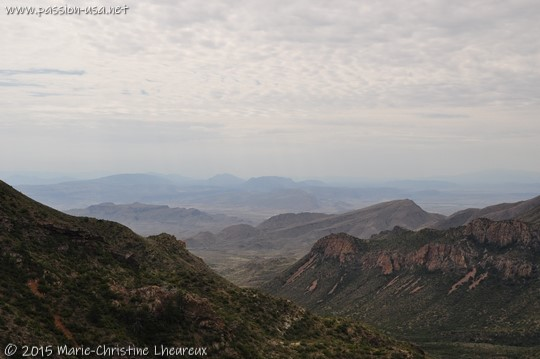 View of Big Bend National Park, Lost Mine Trail, Chisos Basin, Big Bend National Park