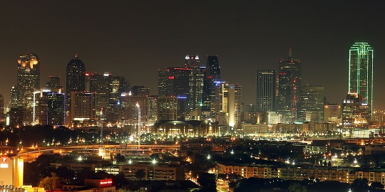 dallas skyline night 540